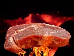 Lavastein Gasgrill Fleisch
